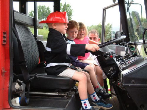 Fire Engine limo hire interior in Newcastle, Sunderland, Durham, North East for children's party