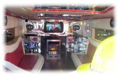 Fire Engine limo hire in UK