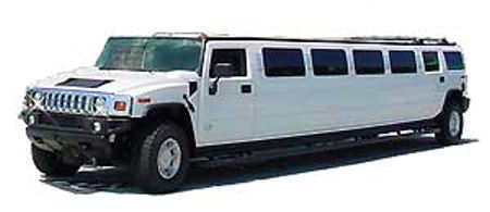 Chauffeur stretch white Hummer H2 limo hire in Glasgow, Edinburgh, Aberdeen, Dundee, Scotland.