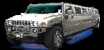 Chauffeur stretched silver Hummer H2 limousine hire in Hull, Scunthorpe, Lincoln, Grimsby, Lincolnshire, East Yorkshire